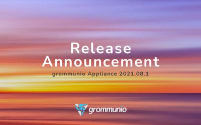 Ankündigung Release der grommunio Appliance 2021.08.1